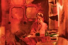 Vörös kép, olaj-vászon 100x100cm 2013